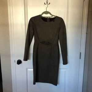 BCBG Brown Suede Cocktail Dress